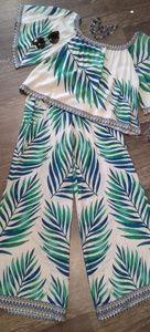 Fern print pants